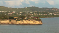 Antigua leave St Johns harbor coastline HD 1351 Stock Footage