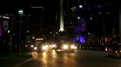 Miami citylights by night Stock Footage
