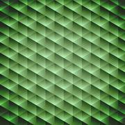 Green emerald geometric cubic background Stock Illustration