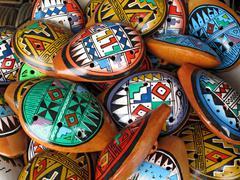Ocarina. aboriginal musical instrument made of clay Stock Photos