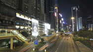 Stock Video Footage of Time lapse of the Admiralty and Wan Chai area of Hong Kong