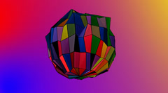 Geometric rainbow polygon Stock Footage