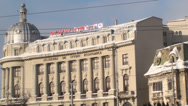 Stock Video Footage of Academy Of Economic Study In Bucharest Pan-Shot