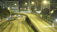 Stock Video Footage of Time lapse of an elevated road in the Wan Chai area of Hong Kong