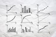 Diagrams and charts and other infographics drawing Stock Illustration