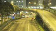 Stock Video Footage of Stunning time lapse panning an elevated road in the Wan Chai area of Hong Kong
