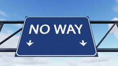 No Way - My Way Stock Footage