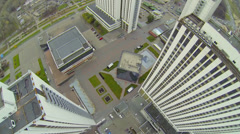 Complex of tall hotel buildings in Izmailovo Stock Footage