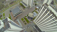 Stock Video Footage of Complex of tall hotel buildings in Izmailovo