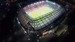 Stock Video Footage of Match of UEFA Champions League on Lokomotiv football stadium