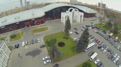 Parking near Mosexpo pavilion at Exhibition Center Stock Footage