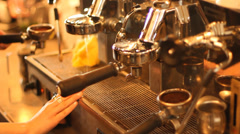 Coffee Espresso Machine Stock Footage