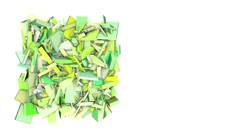 Stock Video Footage of 3d abstract green spiked shape on white