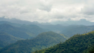 Stock Video Footage of Cumulus clouds above the Amazonian foothills of the Andes