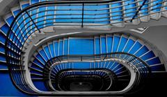 Blue staircase Stock Photos