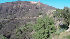 Hollywood Hills and Sign Stock Footage