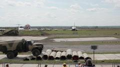 Multipurpose vehicle Ural 43206 on the International Forum Stock Footage