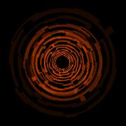 Abstract technology orange circles background Stock Illustration