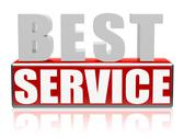 Stock Illustration of best service in letters and block