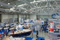 Lazio boating exhibition Stock Photos