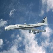 Futuristic jet concept - 3D model