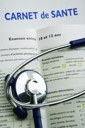 health report - stock photo