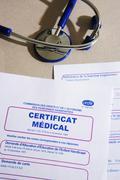 Medical certificate Stock Photos