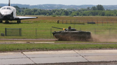 Tracked infantry fighting vehicle BMP-3 on the show Stock Footage