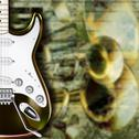 Stock Illustration of abstract grunge background guitar and musical instruments