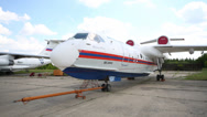 Stock Video Footage of Multipurpose amphibious aircraft Be-200ES-E.