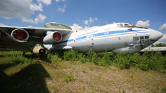Aircraft command-measuring point IL-76SK (976 SCIP). Stock Footage