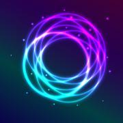Abstract background with blue-purple shadingl plasma circle effect Stock Illustration