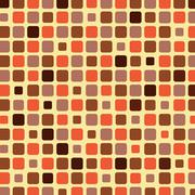 Orange shade tile mosaic background Stock Illustration