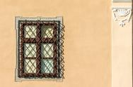 Stock Photo of Common Medieval House Window