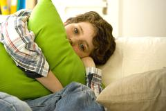child boredom - stock photo