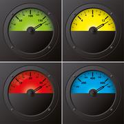 Analog gauges - stock illustration