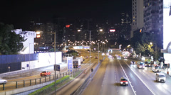 A busy road in the Wan Chai area of Hong Kong Stock Footage