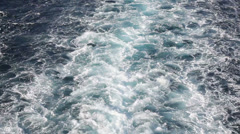 Water splashes after passenger ferry - stock footage