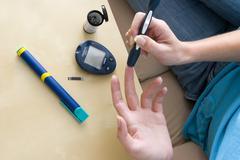 Test for diabetes Stock Photos