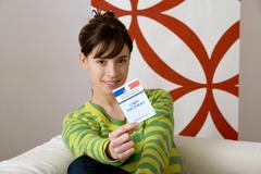 Voter registration card Stock Photos