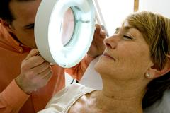 dermatology, symptomatology elde - stock photo