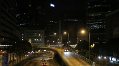 An elevated road in the Wan Chai area of Hong Kong Stock Footage