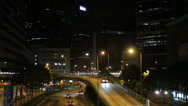 Stock Video Footage of An elevated road in the Wan Chai area of Hong Kong