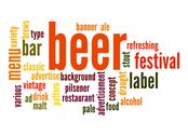 Stock Illustration of beer word cloud