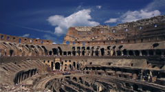 Colosseum ancient atmosphere at present time Stock Footage