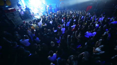 Crowd of spectators on concert of Arash on stage Stock Footage