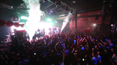 Arash on stage with steam and others effects at Arma Music Hall. Stock Footage