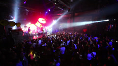 Crowd of people on concert of Arash on stage at Arma Music Hall. Stock Footage
