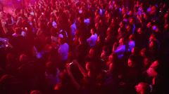 Many people are spectators on concert of Arash on stage Stock Footage