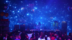 Visual effects on stage during performens Arash. Stock Footage